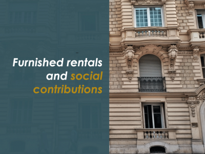 furnished rentals and social contributions